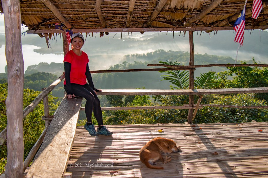 photo in the hut of Nuluh Lapai