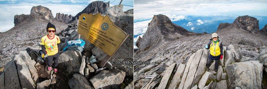 View on the summit of Mount Kinabalu