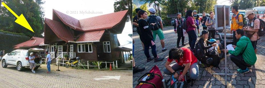 Climb preparation at Kinabalu Park HQ