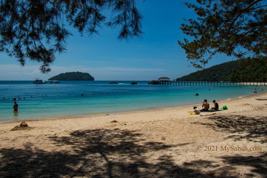 Beach of Manukan Island (Pulau Manukan)