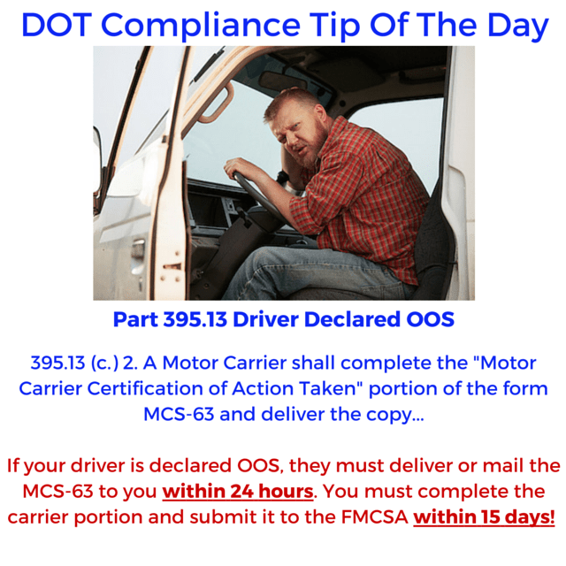 DOT Compliance Tip Of The Day!