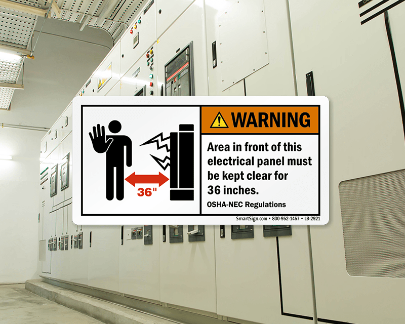 electrical panel hazards 3 way switch wiring diagram multiple lights minimum clearance around panels carrying 600 volts or blocking is a violation of regulations set by the federal occupational safety and health administration osha national