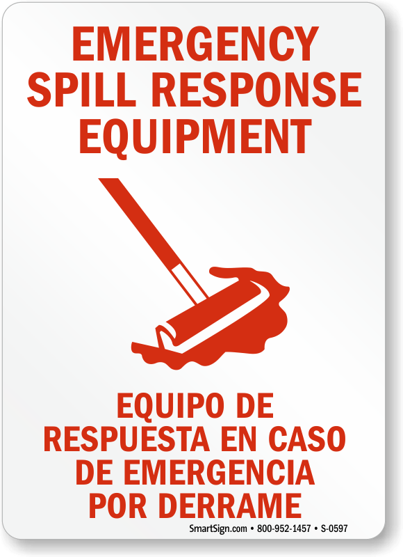 Spill CleanUp Signs  MySafetySigncom