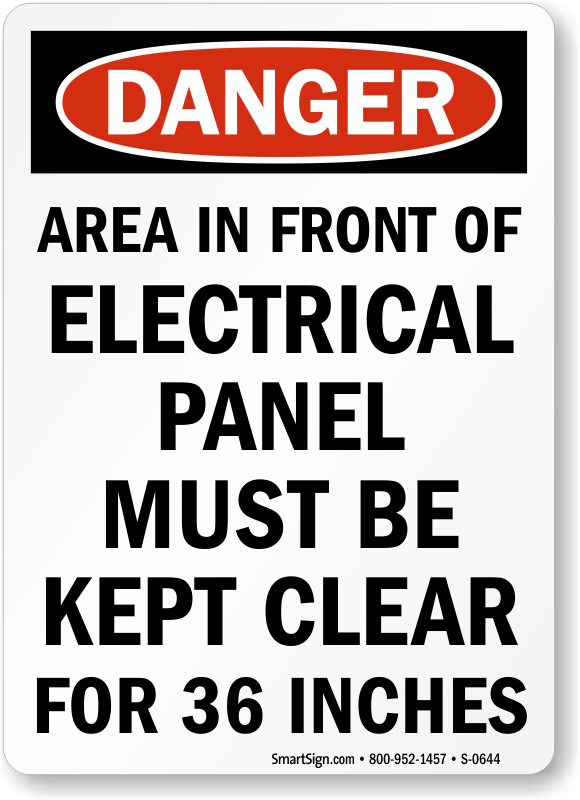 electrical panel hazards satellite dish components diagram signs keep clear osha danger sign area in front of this