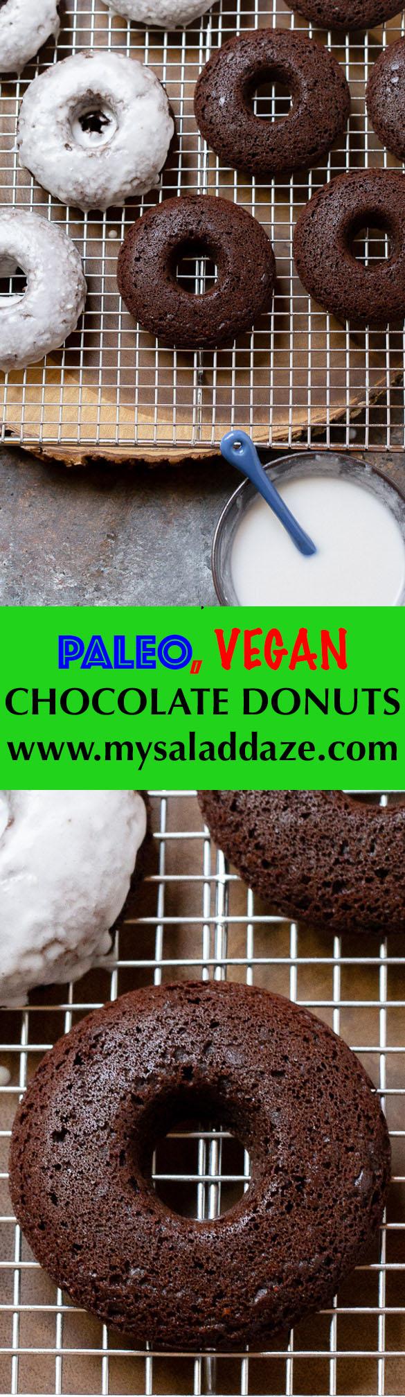 paleo vegan chocolate cake donuts