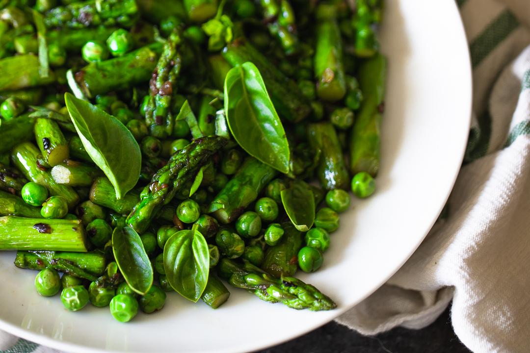 sautéd asparagus & peas