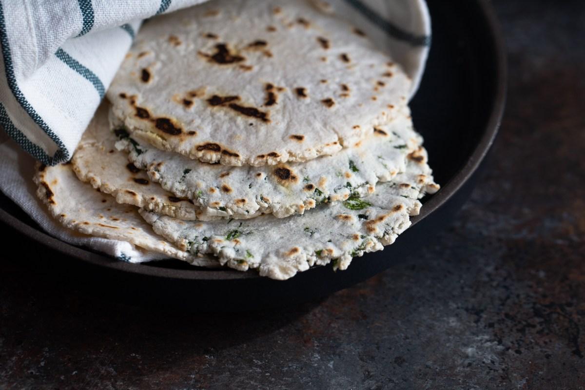 gluten free, paleo cassava flour tortillas