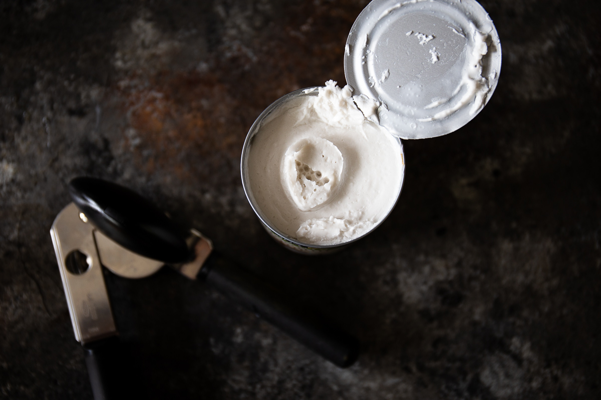 spoonful of sweetened condensed milk
