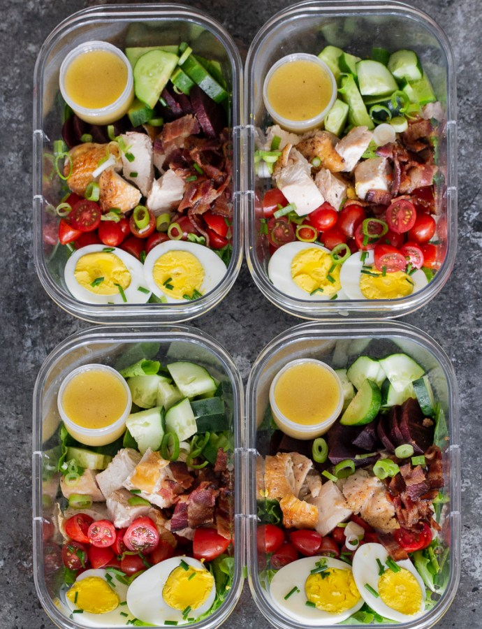 COBB SALAD | paleo, whole30, meal prep