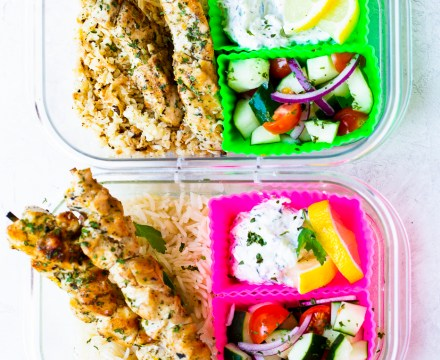 CHICKEN SOUVLAKI MEAL PREP | paleo, whole 30 option