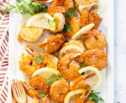 EASY COCONUT SHRIMP | gluten free, paleo option & whole 30 option