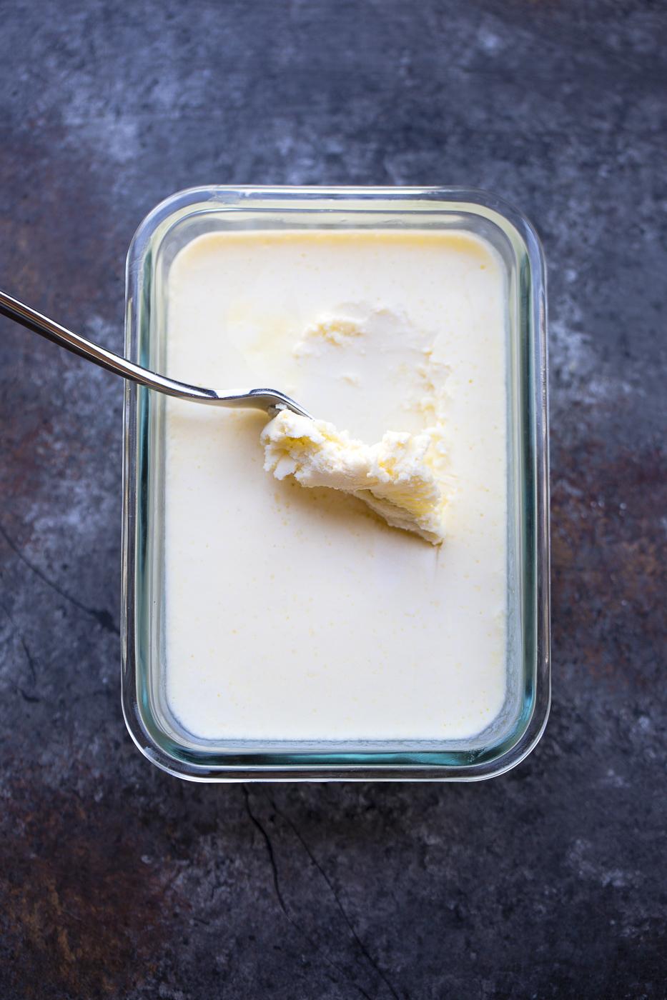 prepared vegan butter in a dish
