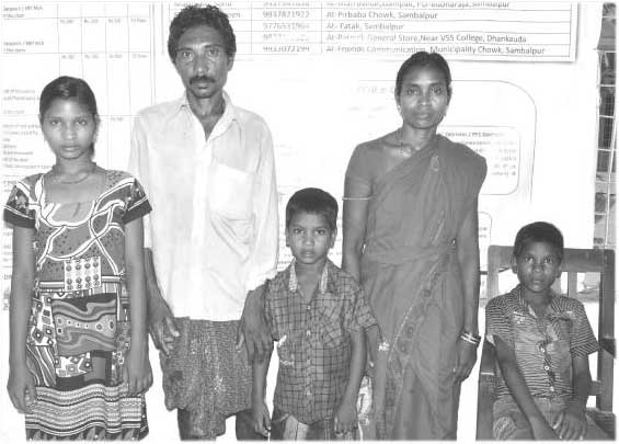 Evicted Dalit Family