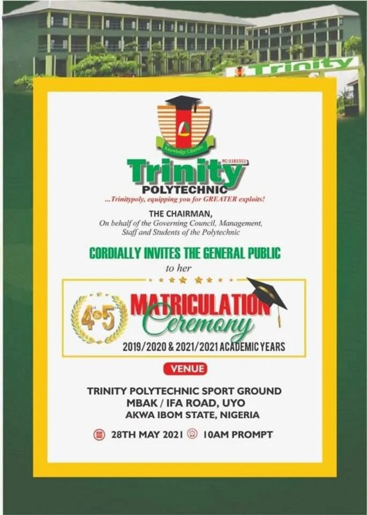 Trinity Poly Matriculation Ceremony for 2019/2020 and 2020/2021