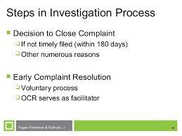 complaint resolution