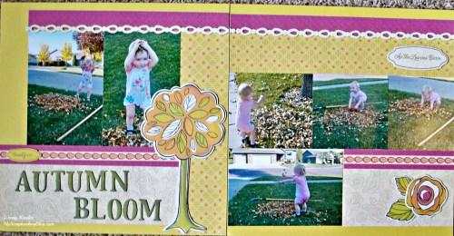 Autumn Bloom Layout by Wendy Kessler