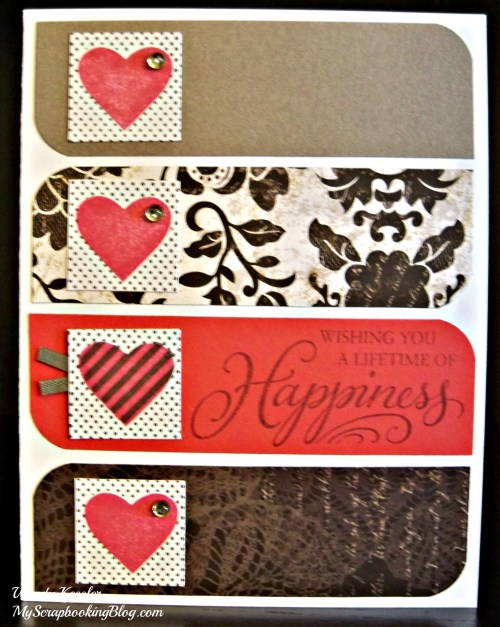 Red Heart Card by Wendy Kessler