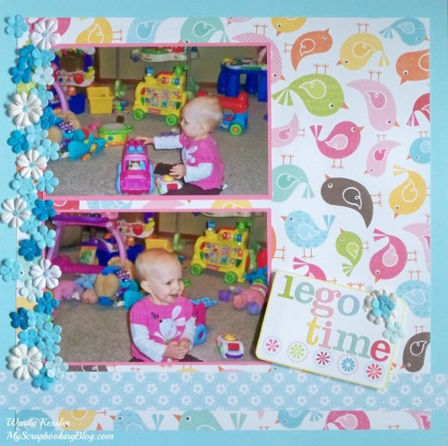 Lego Time Layout by Wendy Kessler