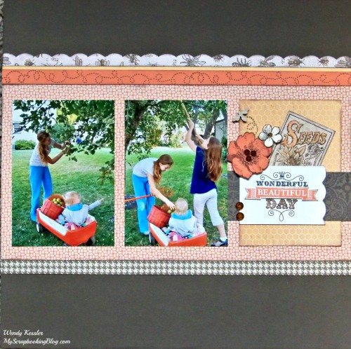 Wonderful Beautiful Day Layout by Wendy Kessler