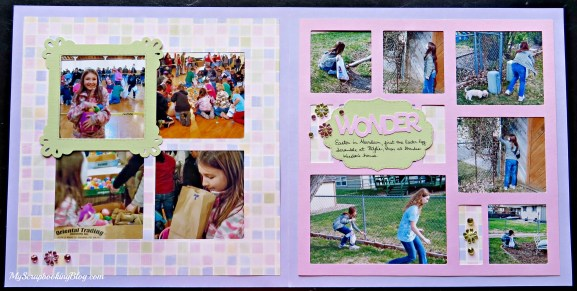 Easter Wonder Layout by Wendy Kessler