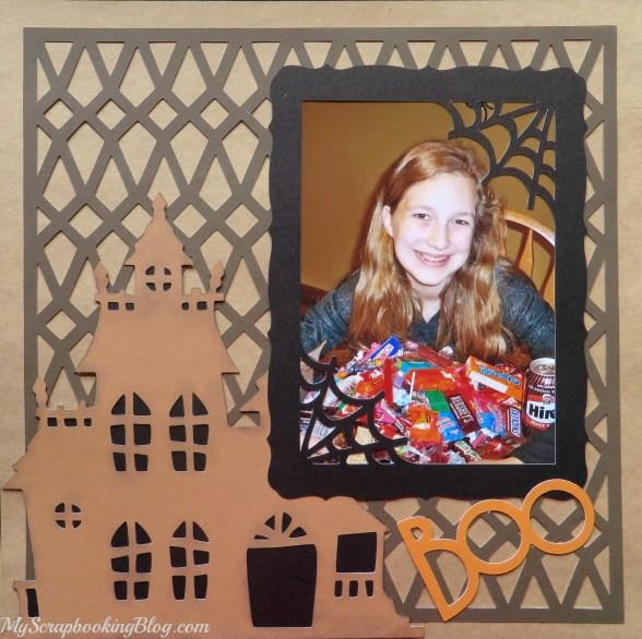 Boo Halloween Layout by Wendy Kessler