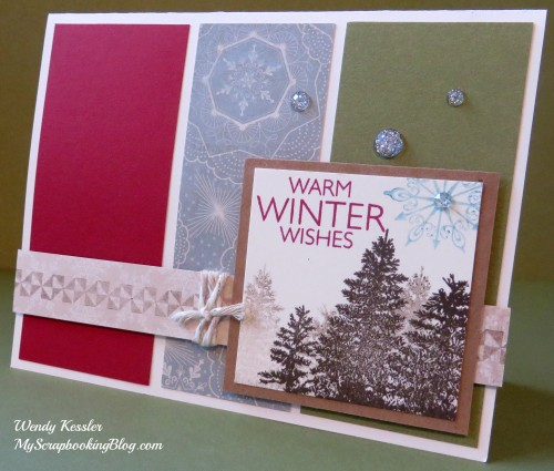 Warm Winter Wishes Christmas Card by Wendy Kessler
