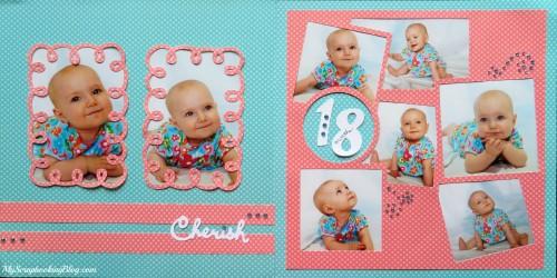 Cherish 18-Month Layout by Wendy Kessler