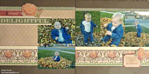 Simply Delightful Fall Layout by Wendy Kessler