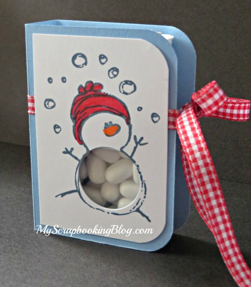 TicTac Snowman Container by Wendy Kessler