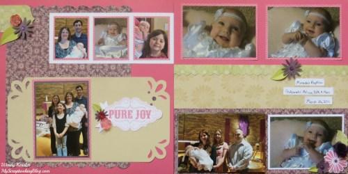 Pure Joy Baptism Layout by Wendy Kessler