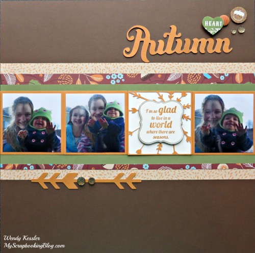 Autumn Layout by Wendy Kessler