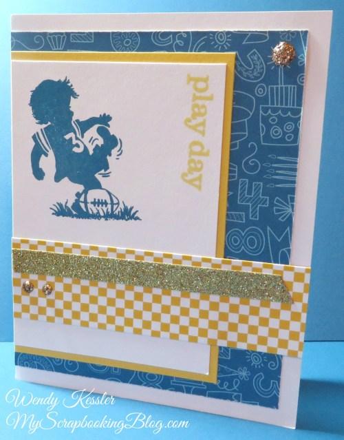 Playday Boy Card by Wendy Kessler