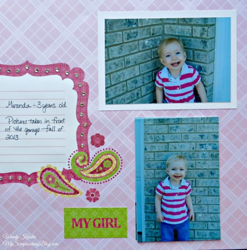 My Girl Layout by Wendy Kessler