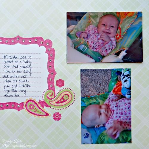 Baby Layout by Wendy Kessler