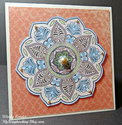 Colored Pencil Flower Card by Wendy Kessler