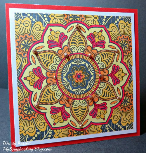 Sunburst Card by Wendy Kessler