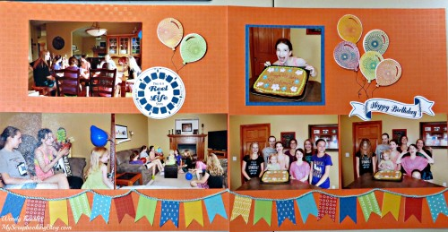 Happy Birthday Layout by Wendy Kessler