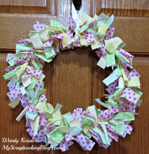 Fabric Wreath by Wendy Kessler