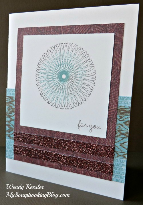 Dizzy Circles Card by Wendy Kessler