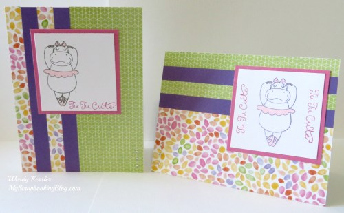 Hippo Ballet Cards by Wendy Kessler