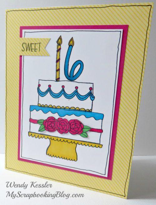 Sweet 16 Card by Wendy Kessler