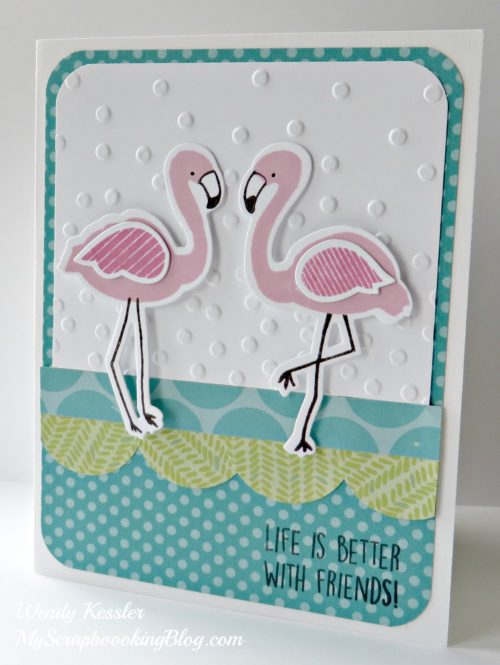 Flamingo Friends Card by Wendy Kessler