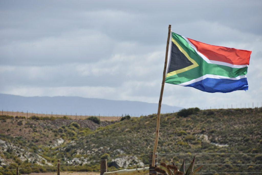 La bandiera del Sudafrica