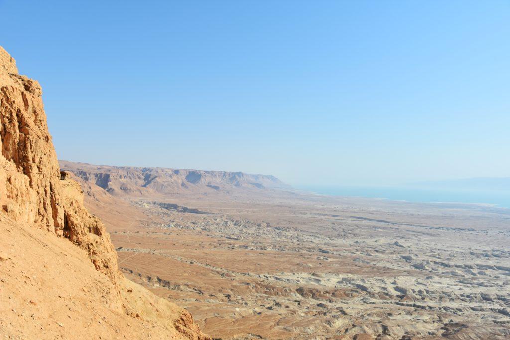 Panorama sul deserto e sul Mar Morto da Masada