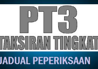 Jadual Peperiksaan PT3 2017