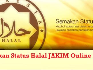 Semakan status halal JAKIM Online
