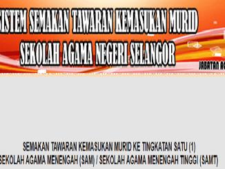 Semakan Keputusan Sekolah Agama Menengah Selangor 2018