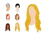 cartoon blonde hair