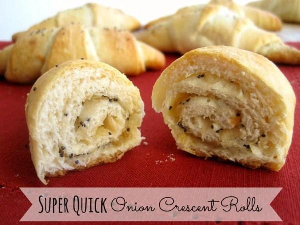 Quick Onion Crescent Rolls