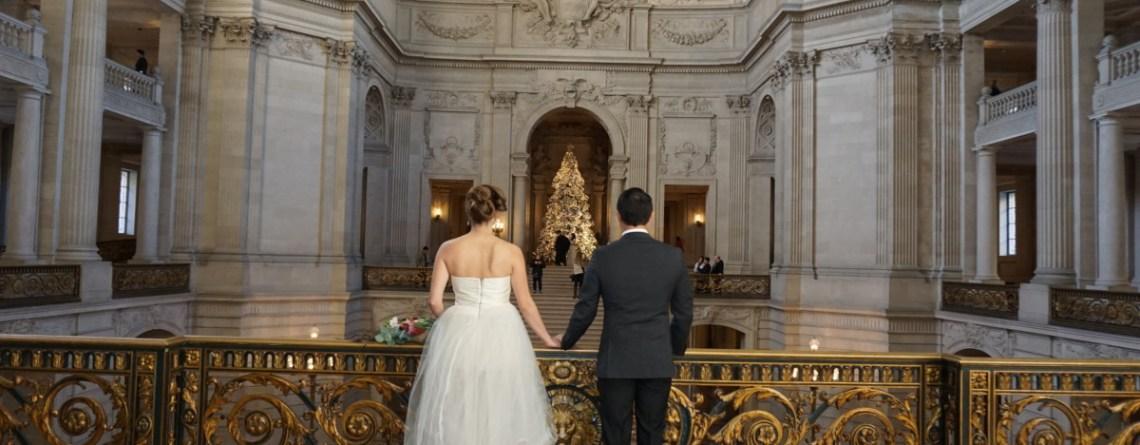 San Francisco December Winter Wedding